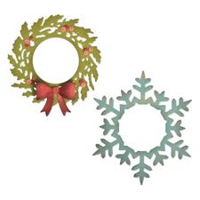 Sizzix Thinlits - Tim Holtz / Wreath & Snowflake