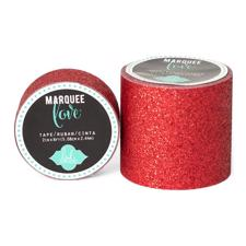 "Heidi Swapp Marquee Love Glitter Washi Tape 2"" - Red"