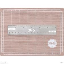 Mini Magnetic Cutting Mat & Ruler Set (woodgrain)