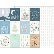 Pebbles Scrapbook Paper - Night Night Baby Boy / Ahoy Baby Boy! Cards