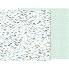 Pebbles Scrapbook Paper - Night Night Baby Boy / Gone Fishing