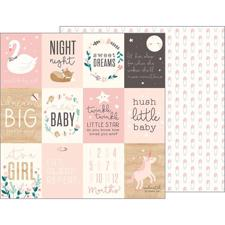 Pebbles Scrapbook Paper - Night Night Baby Girl / Sweet Baby Girl Cards