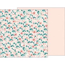 Pebbles Scrapbook Paper - Night Night Baby Girl / Summer Breeze