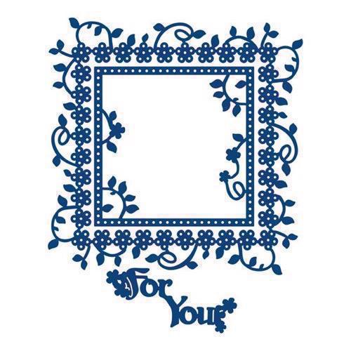 Tattered Lace Die - Flower Square / For You