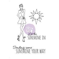 Prima Mixed Media Doll Stamp Clear Stamp Kit - Sunshine