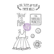 Prima Mixed Media Doll Stamp Cling Stamps - Play Time