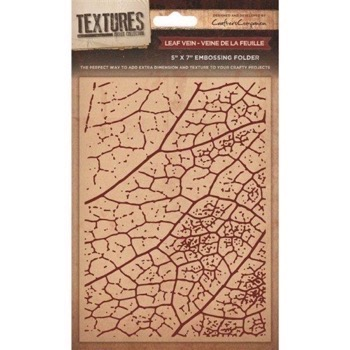 Crafters Companion Embossing Folder - Leaf Veins