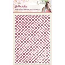Crafters Companion Embossing Folder - Distressed Lattice