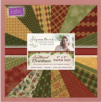 "Crafters Companion Paper Pad 6x6"" - Traditional Christmas"