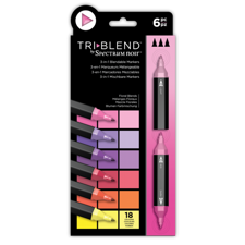 Spectrum Noir TriBlend Markers 6 pcs - Floral Blends