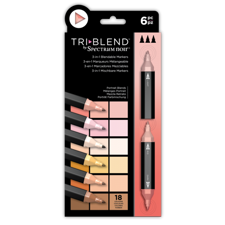 Spectrum Noir TriBlend Markers 6 pcs - Portrait Blends