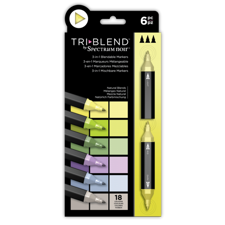 Spectrum Noir TriBlend Markers 6 pcs - Natural Blends