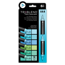 Spectrum Noir TriBlend Markers 6 pcs - Coastal Blends