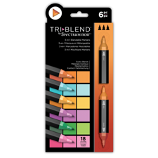 Spectrum Noir TriBlend Markers 6 pcs - Exotic Blends