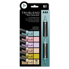 Spectrum Noir TriBlend Markers 6 pcs - Vintage Blends