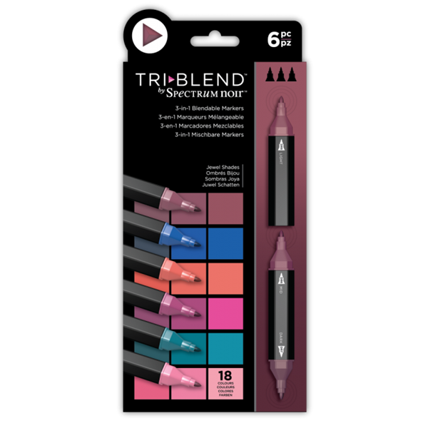 Spectrum Noir TriBlend Markers 6 pcs - Jewel Shades