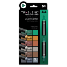 Spectrum Noir TriBlend Markers 6 pcs - Woodland Shades