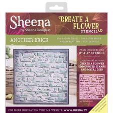 "Crafters Companion Stencil 8x8"" - Another Brick"