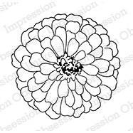 IO Stamps Cling Stamp - Zinnia Large
