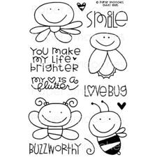 Paper Smooches Clear Stamp Set - Giddy Bugs