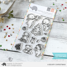 Mama Elephant Clear Stamp Set - A Beary Christmas
