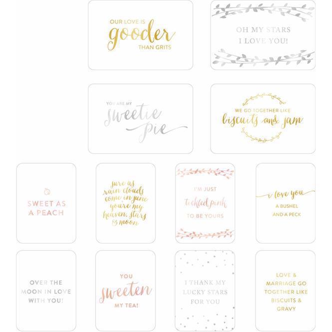 Project Life Specialty Card Pack Foil - Southern Weddings II