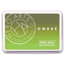 Hero Arts Ombre Ink Pad - Lime to Forever Green