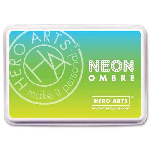 Hero Arts Ombre Ink Pad - Neon / Chartreuse to Blue