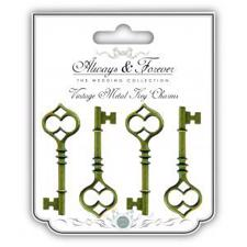 Metal Vintage - Key Charms (large)