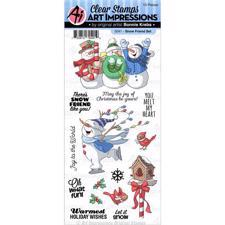 Art Impressions Clear Stamp Set - Snow Friend