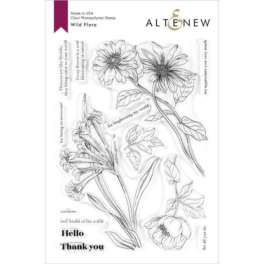 Altenew Clear Stamp Set - Wild Flora
