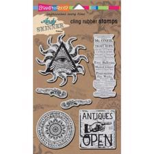 Stampendous Cling Stamp Set - Andy Skinner / Curiosity