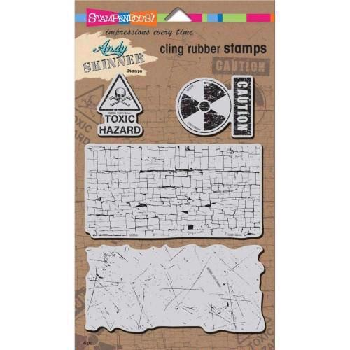 Stampendous Cling Stamp Set - Andy Skinner / Toxic