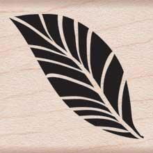 Wood Stamp - Tropical Leaf