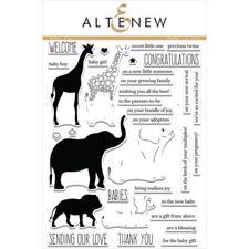 Altenew Clear Stamp Set - Baby Zoo