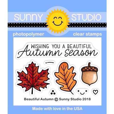 Sunny Studio Stamps - Clear Stamp / Beautiful Autumn