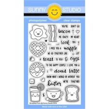 Sunny Studio Stamps - Clear Stamp / Breakfast Puns