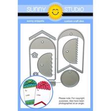 Sunny Studio Stamps - DIES / Build-a-Tag #1 (afrundet)
