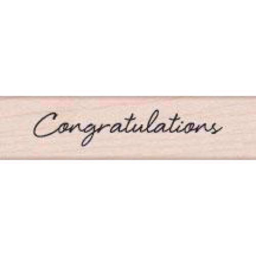 Wood Stamp - Congratulations