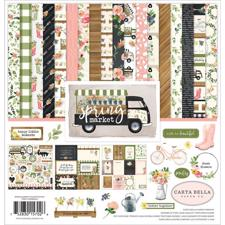 "Carta Bella Scrapbook Paper Collection Kit 12x12"" - Spring Market"