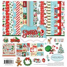 Carta Bella Scrapbook Paper Collection Kit - Santa's Workshop