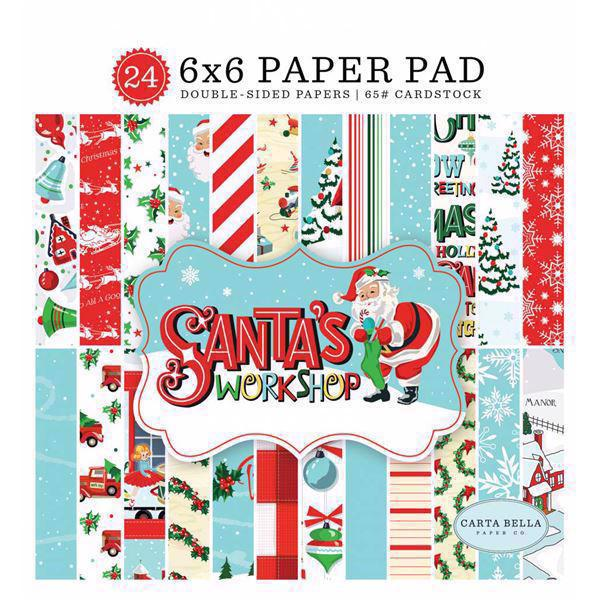 "Carta Bella Paper Pad 6x6"" - Santa's Workshop"