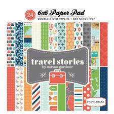 "Carta Bella Paper Pad 6x6"" -  Travel Stories"