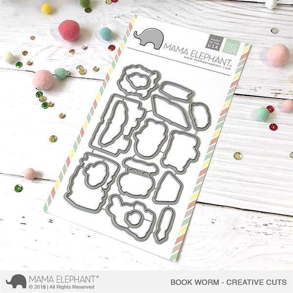 Mama Elephant Creative Cuts - Book Worm (dies)