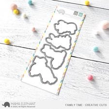 Mama Elephant Creative Cuts - Family Time (dies)