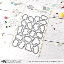 Mama Elephant Creative Cuts - Little Snowman Agenda (dies)