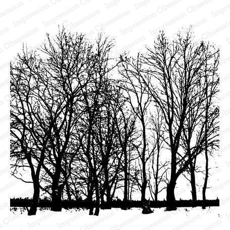 Cover a Card Cling Stamp  - Tree Line
