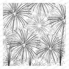 Cover a Card Cling Stamp - Fireworks