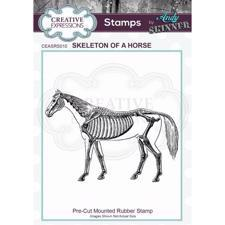 Creative Expressions Cling Stamp - Andy Skinner / Skeleton of a Horse