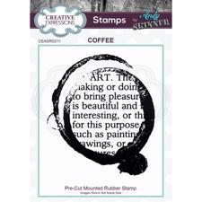 Creative Expressions Cling Stamp - Andy Skinner / Coffee Art